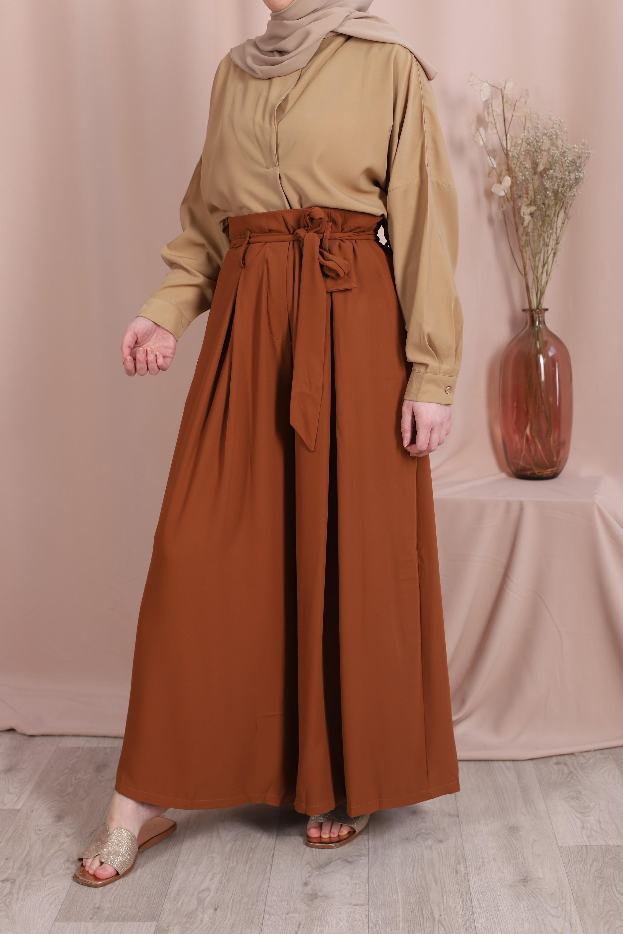 Pantalon-jupe camel
