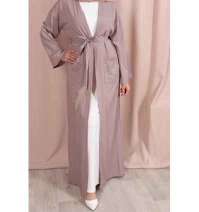 Abaya kimono crystal