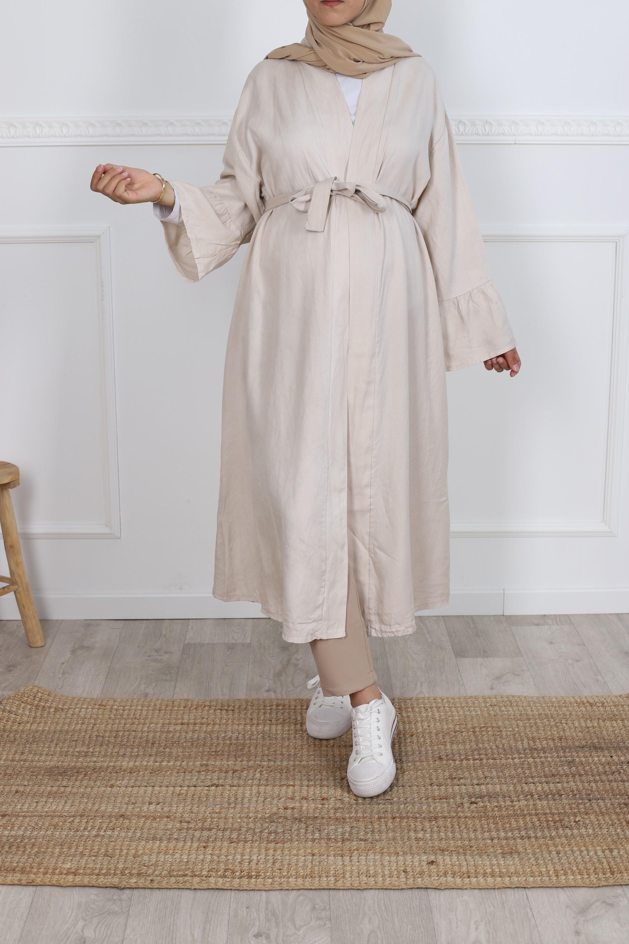 Kimono tencel beige
