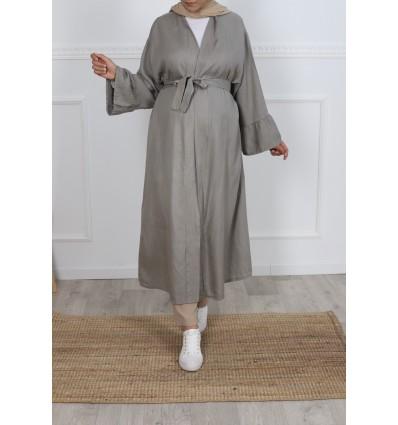 Kimono tencel taupe