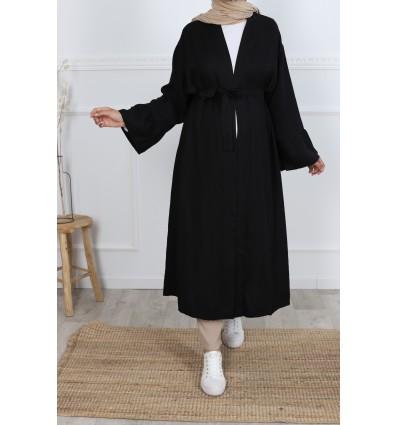 Kimono tencel noir