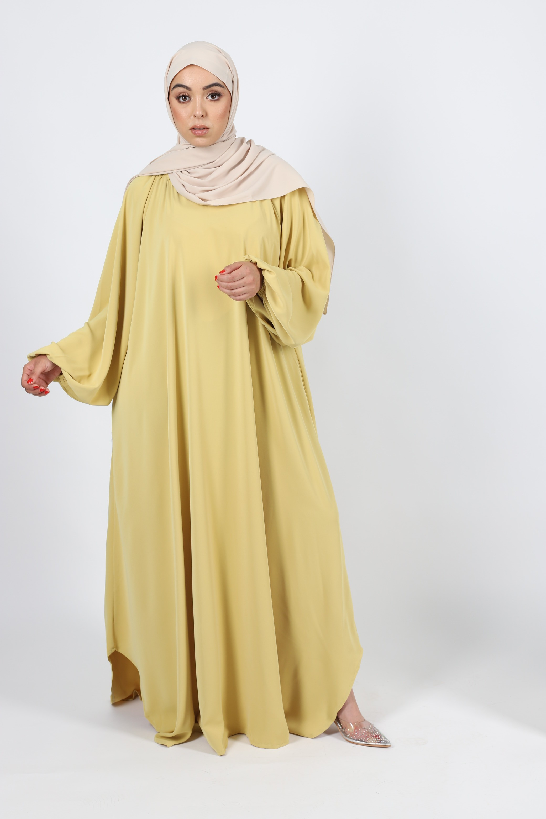 Robe lilia moutarde