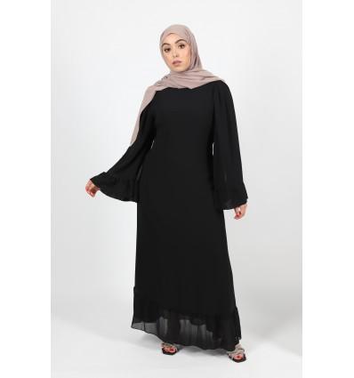 Robe fluffy noir