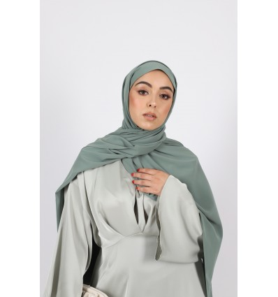 Hijab soie de medine sauge