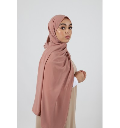 Hijab soie de medine poudre