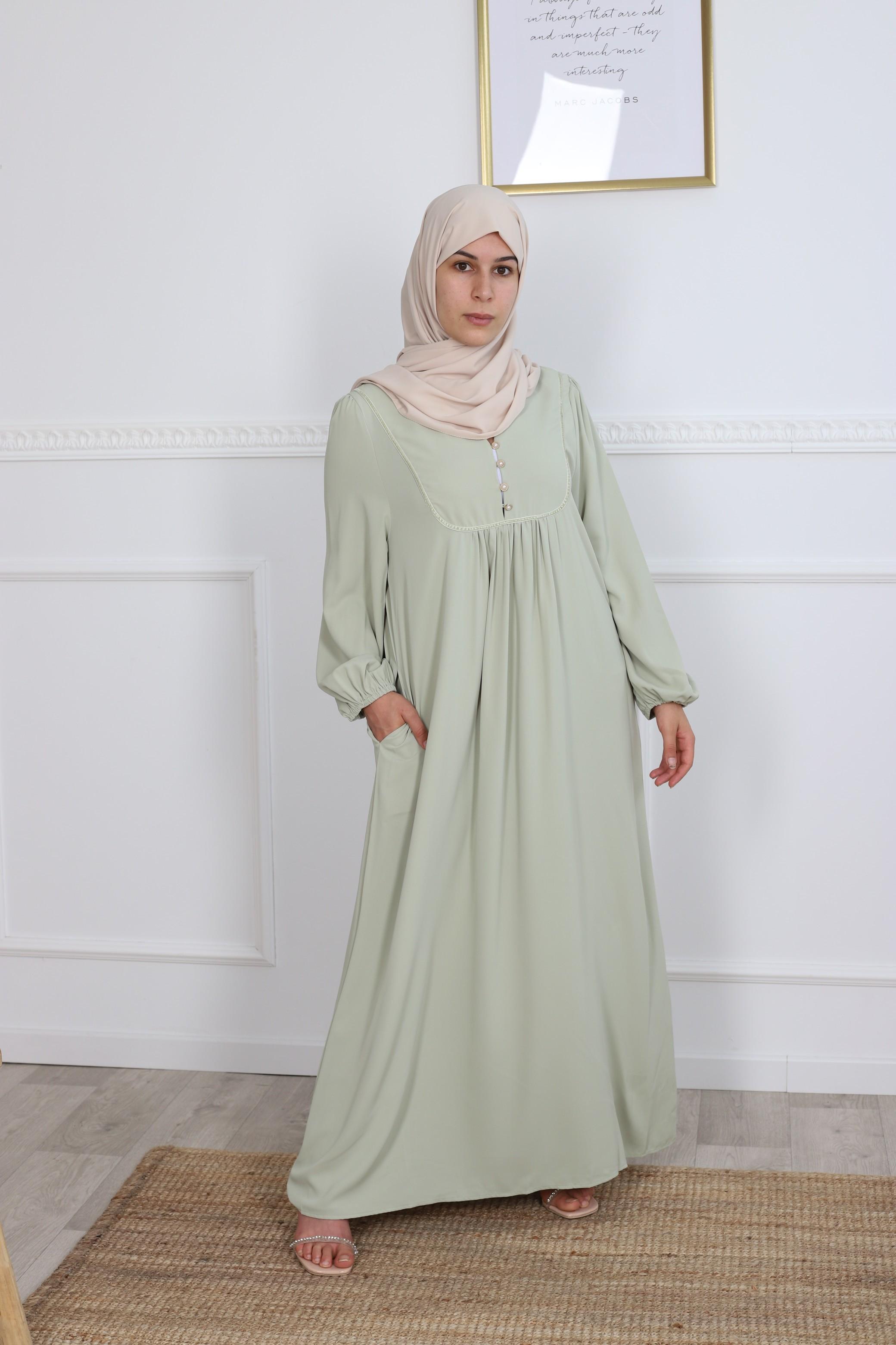 Robe hiya vert pastel