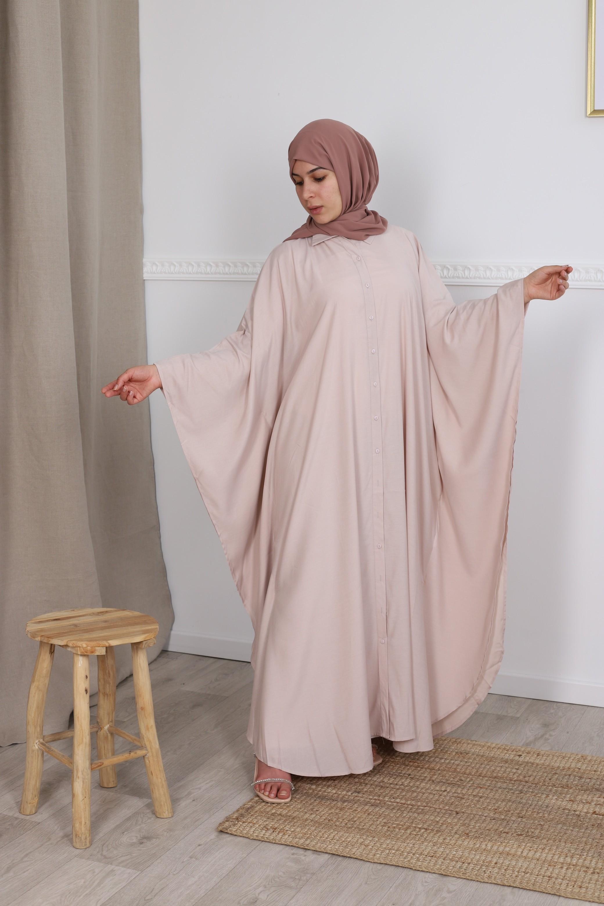 Abaya farasha chemise camel