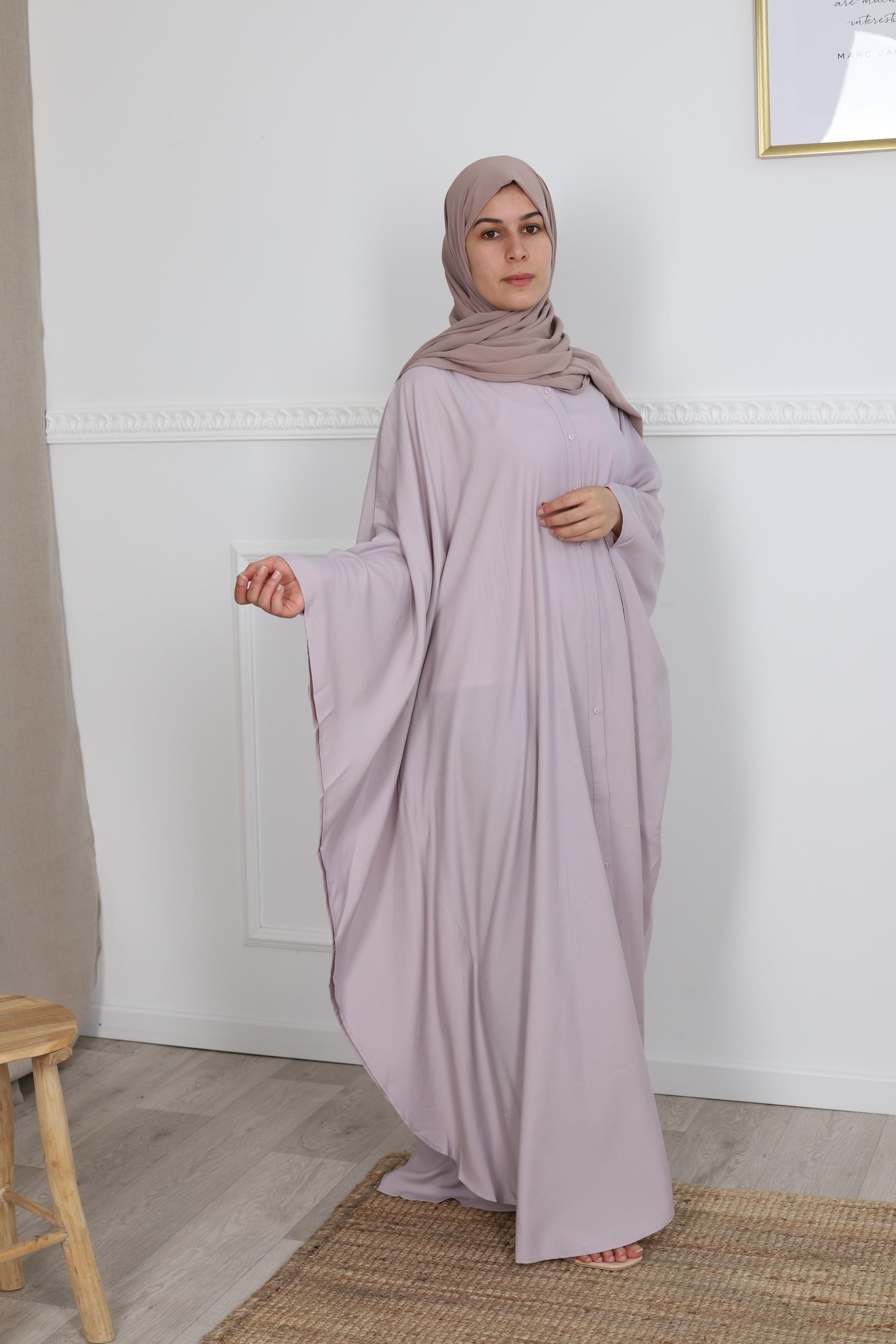 Abaya farasha chemise lilas