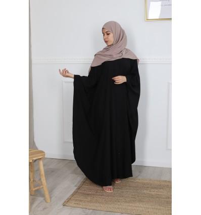 Abaya farasha chemise noir