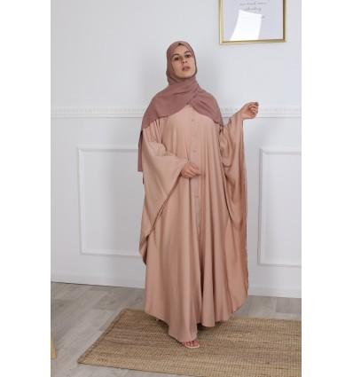Abaya farasha chemise abricot