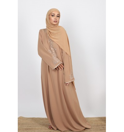 Robe caftant style camel