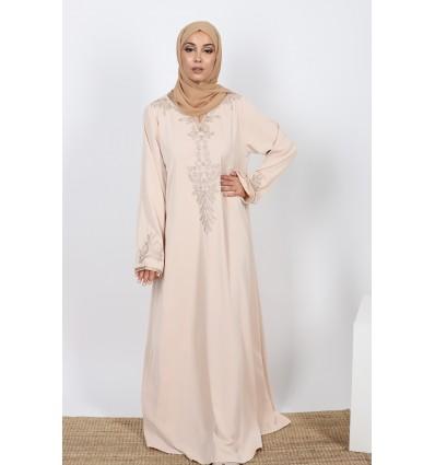 Robe caftan style beige