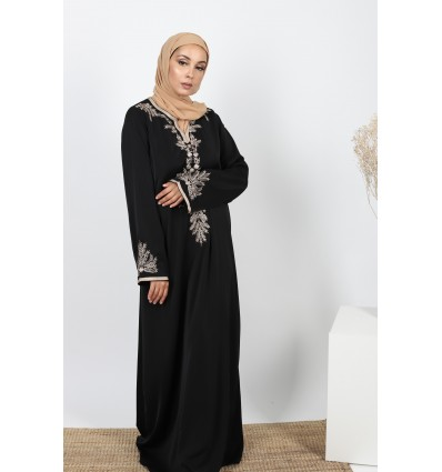 Robe caftan style noir
