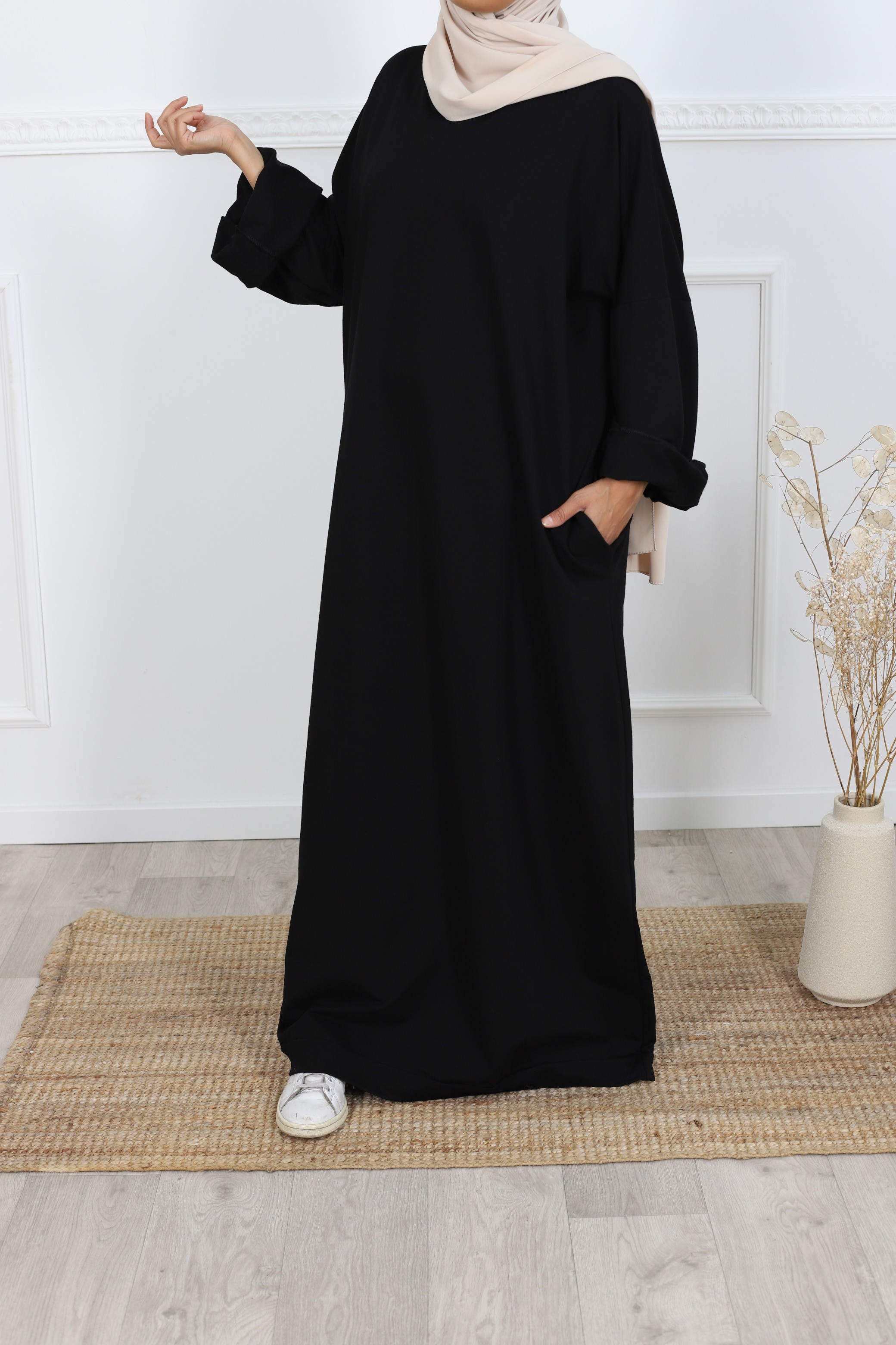 Robe t-shirt oversize noir