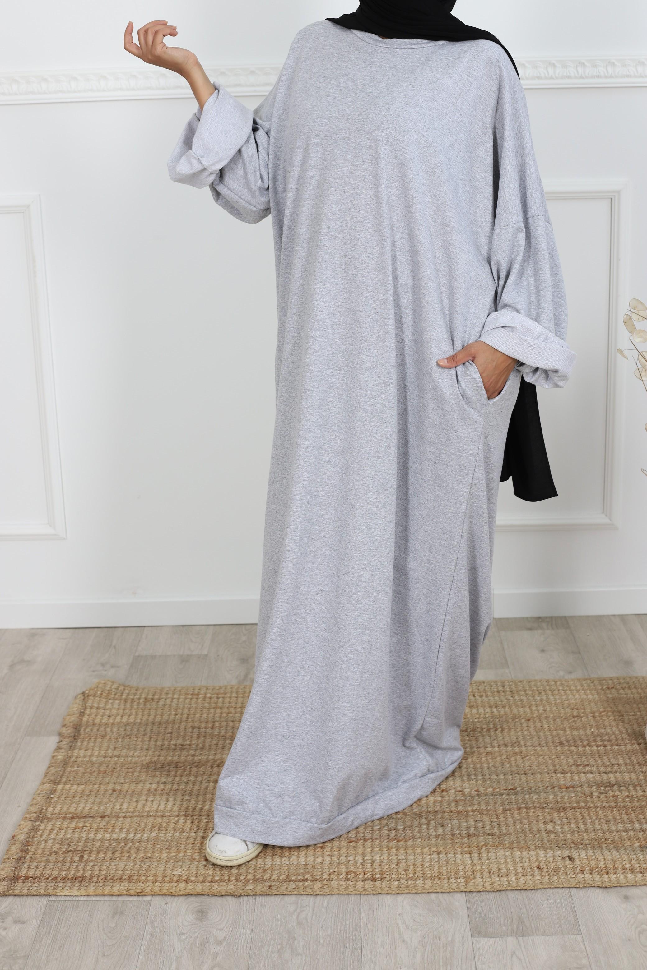 Robe t-shirt oversize gris