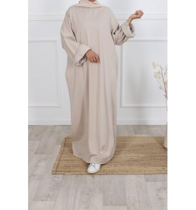 Robe t-shirt oversize BEIGE