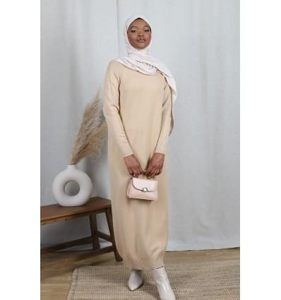 robe pull longue camel