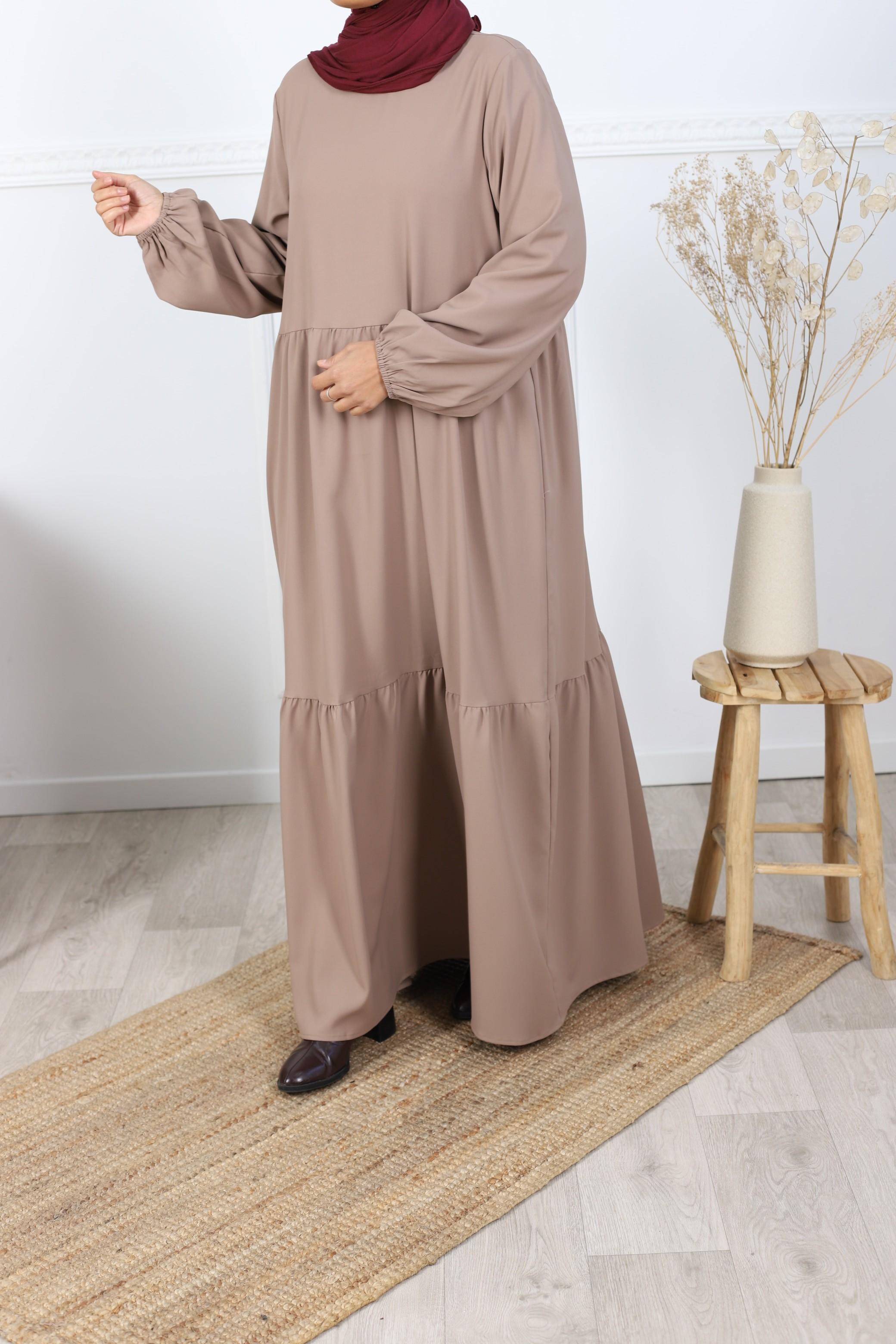 Robe maria taupe