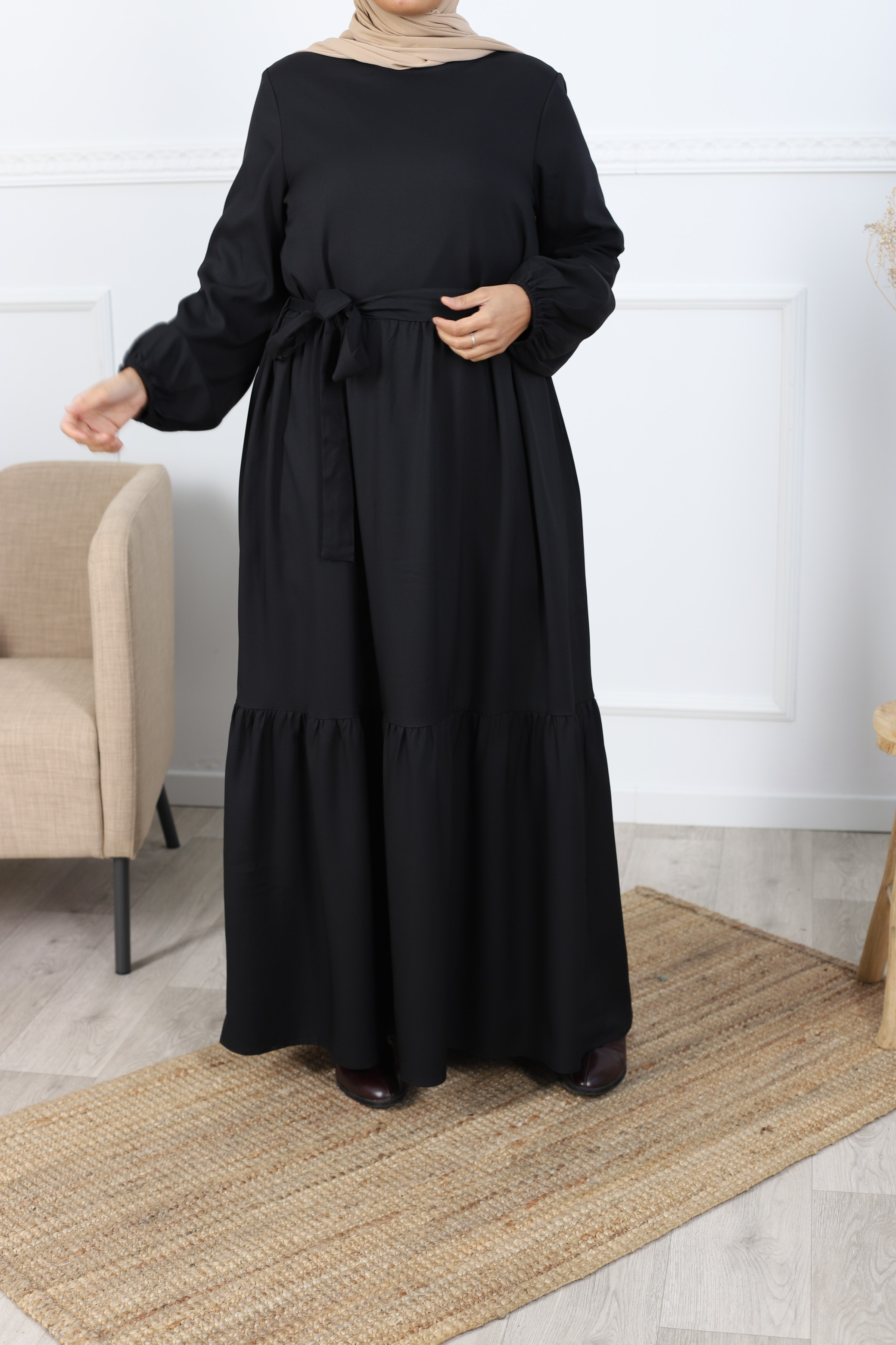 Robe longue maria noir