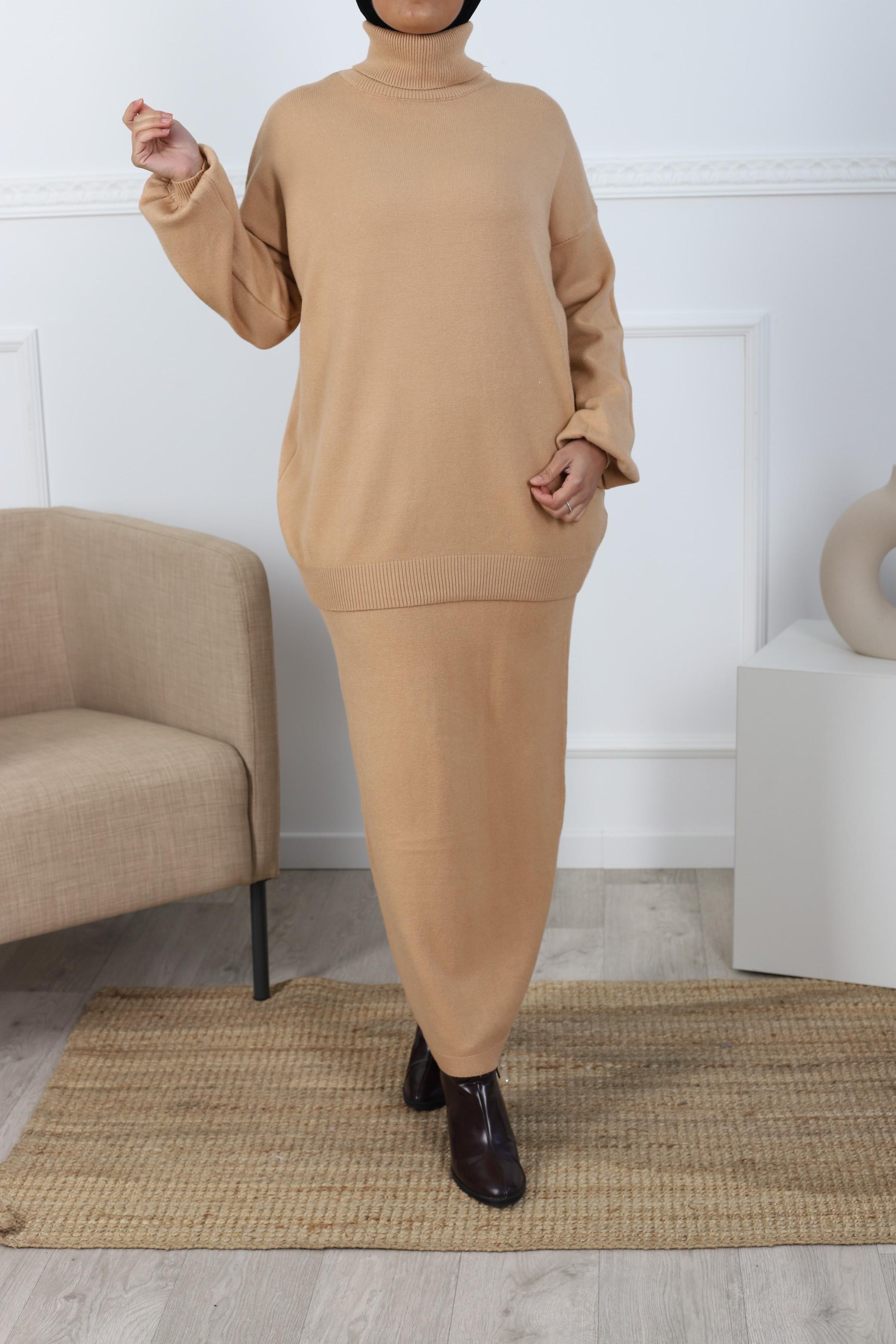 Ensemble jupe camel