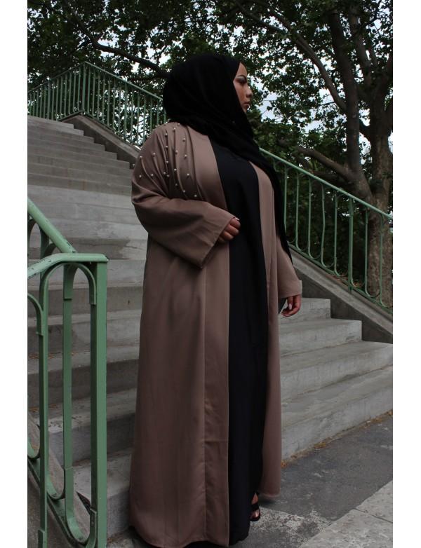 Abaya PERL taupe nidha