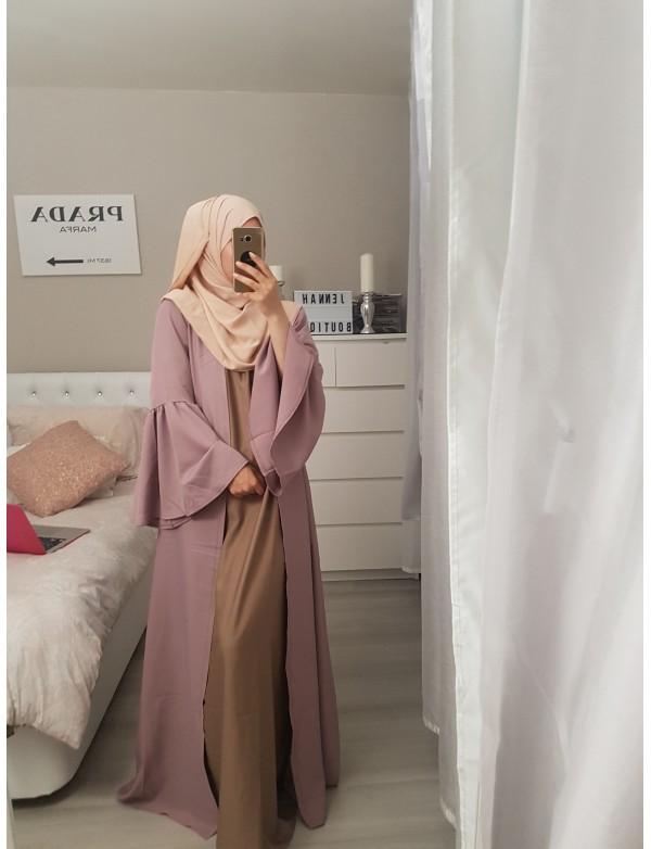 Abaya manche volant