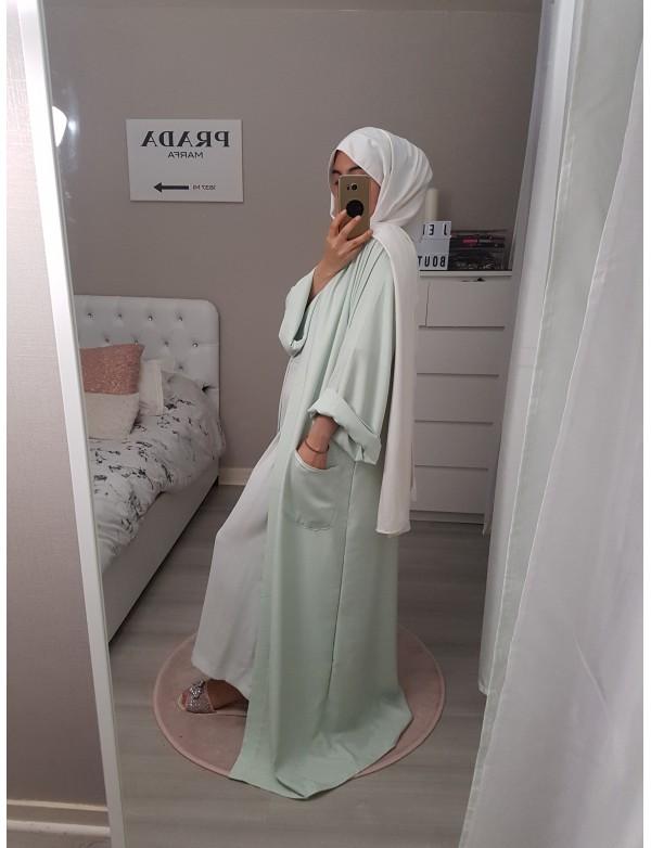 Abaya pastel pocket