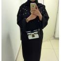 Abaya PERL noir nidha