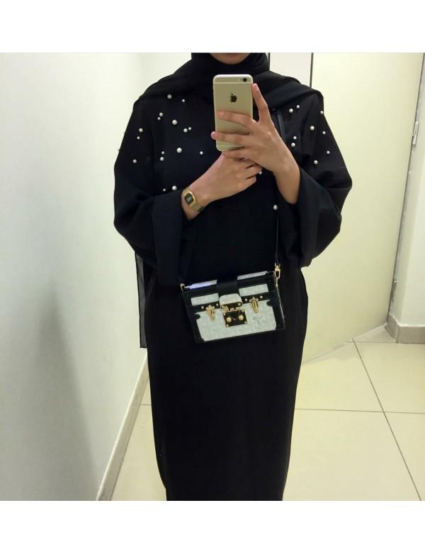 Abaya kimono PERL noir