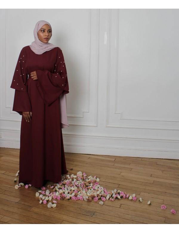 Abaya TAYBA bordeaux