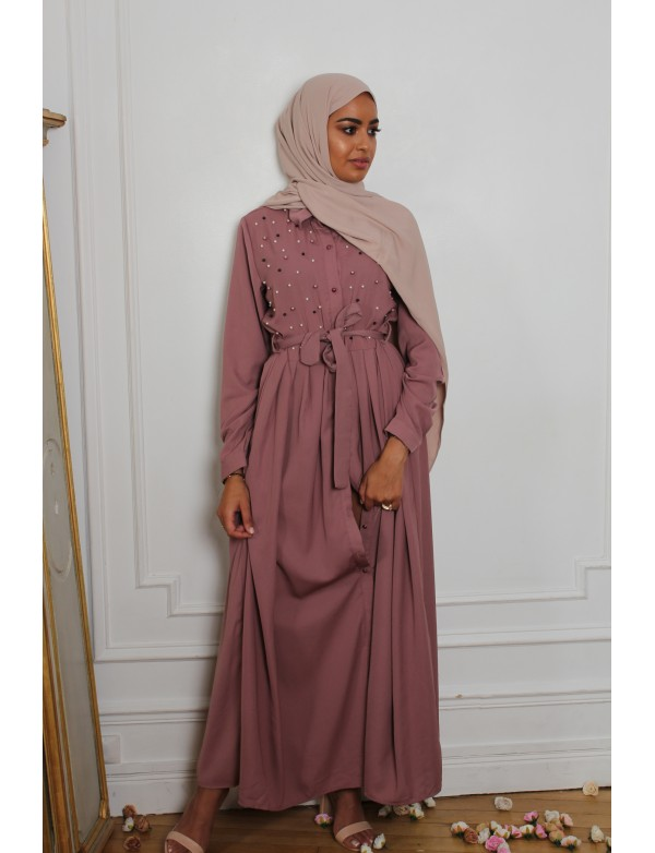 Abaya pearly mauve