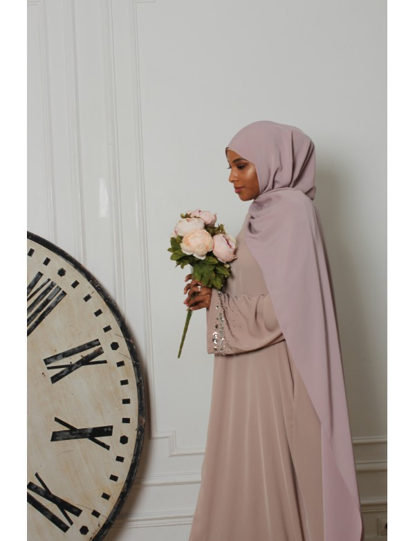 Creation maxi hijab MAUVE