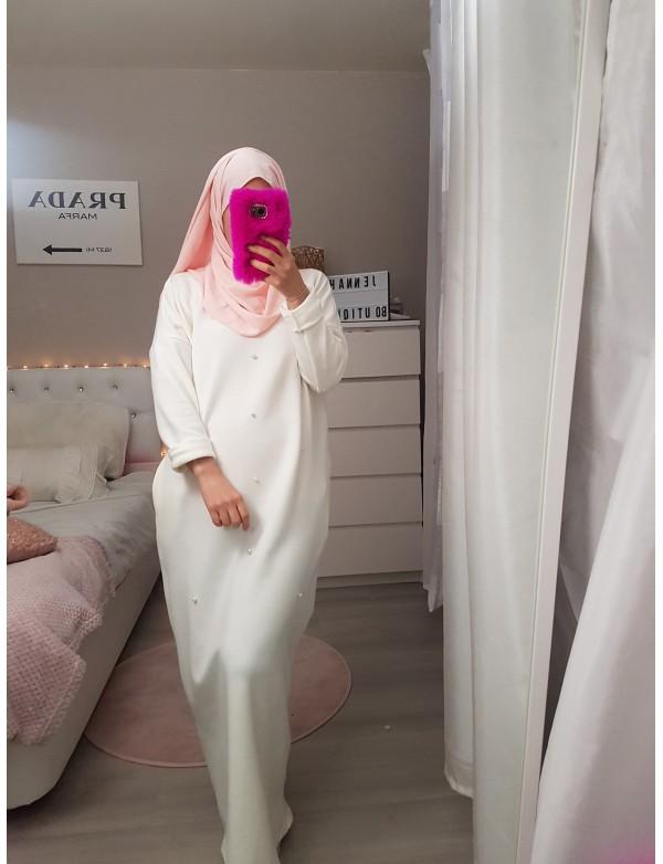 Robe pull perlé