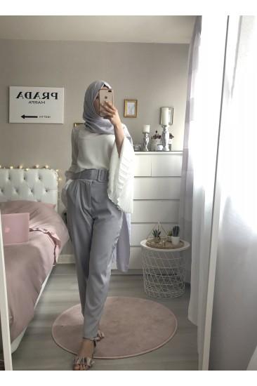 Pantalon ceinture large