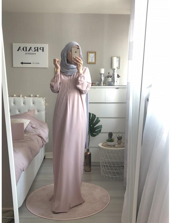 Abaya boutonné