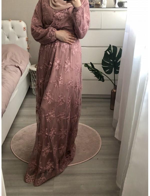 Robe longue lace