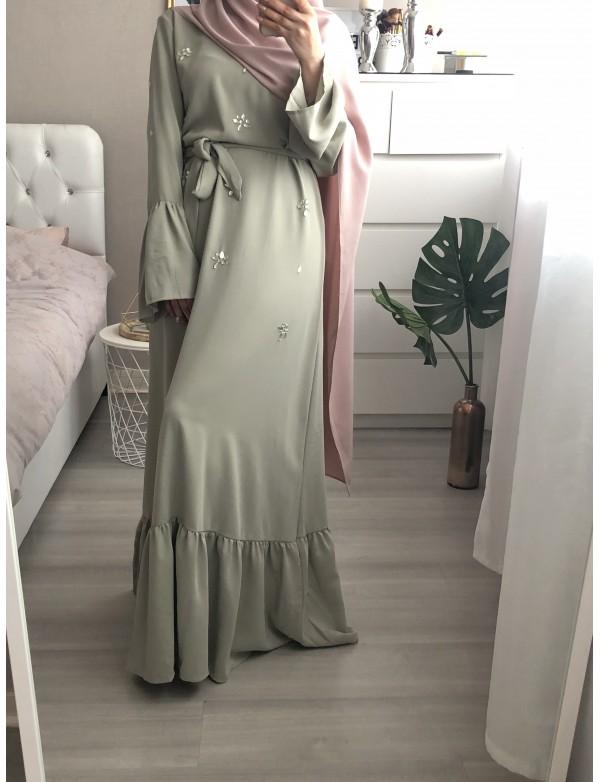 Robe longue SIMRA pistache