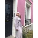 Abaya plissée gris