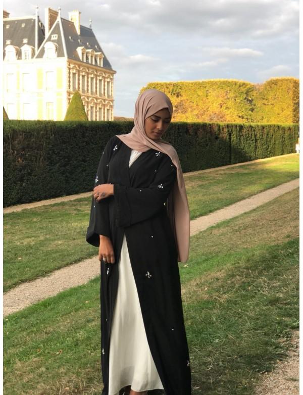 Abaya kimono Crystal noir