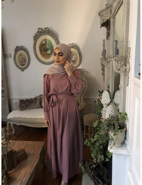 Robe longue bouffante