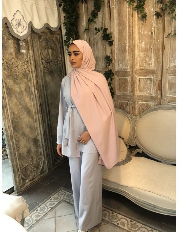 CREATION MAXI HIJAB VIEUX ROSE