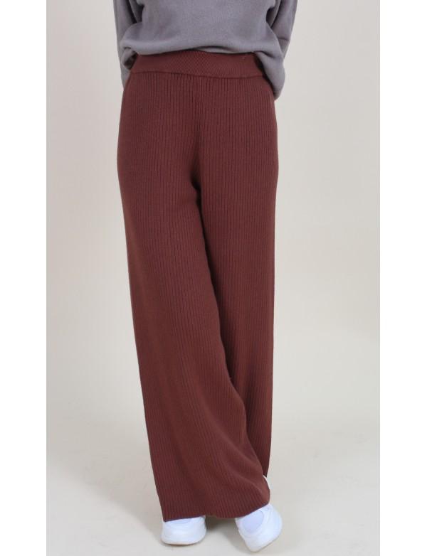 Pantalon laine rouille