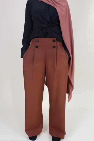 Pantalon large boutons