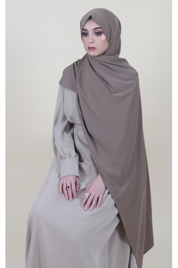 Maxi hijab creation taupe