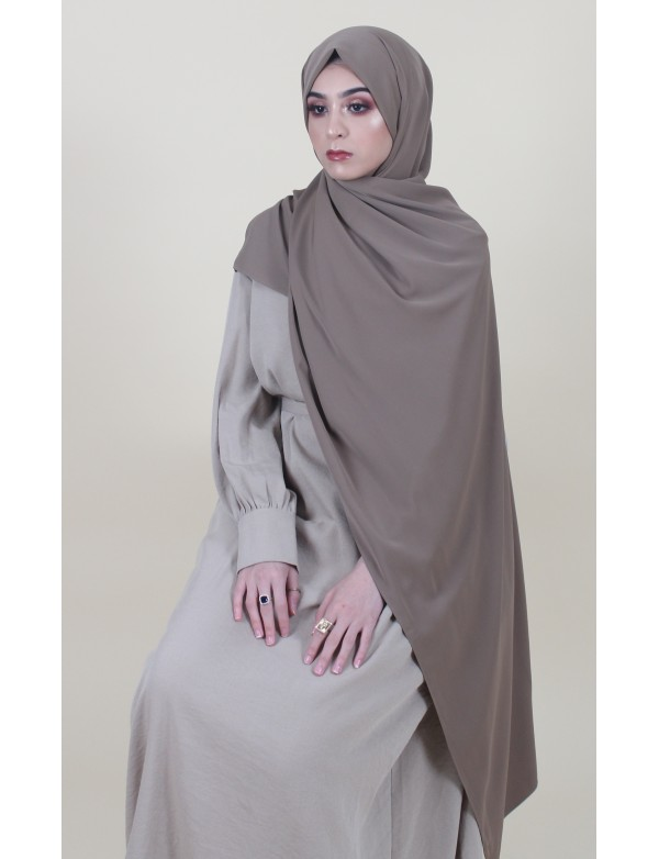 Maxi hijab creation taupe