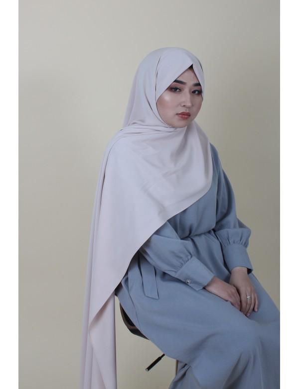 Maxi hijab nude