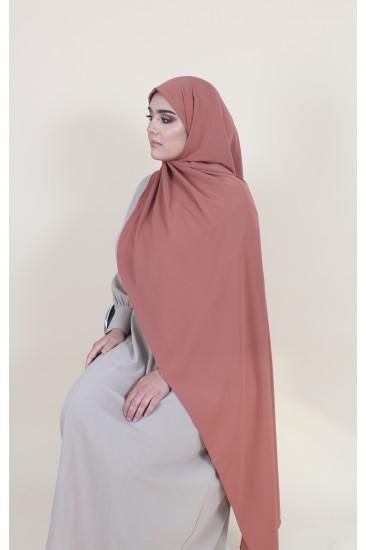Maxi hijab terracota