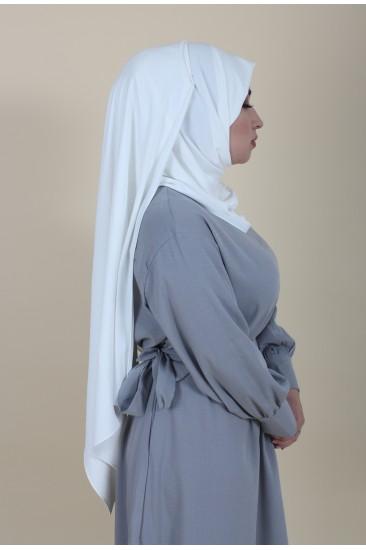 Maxi hijab blanc