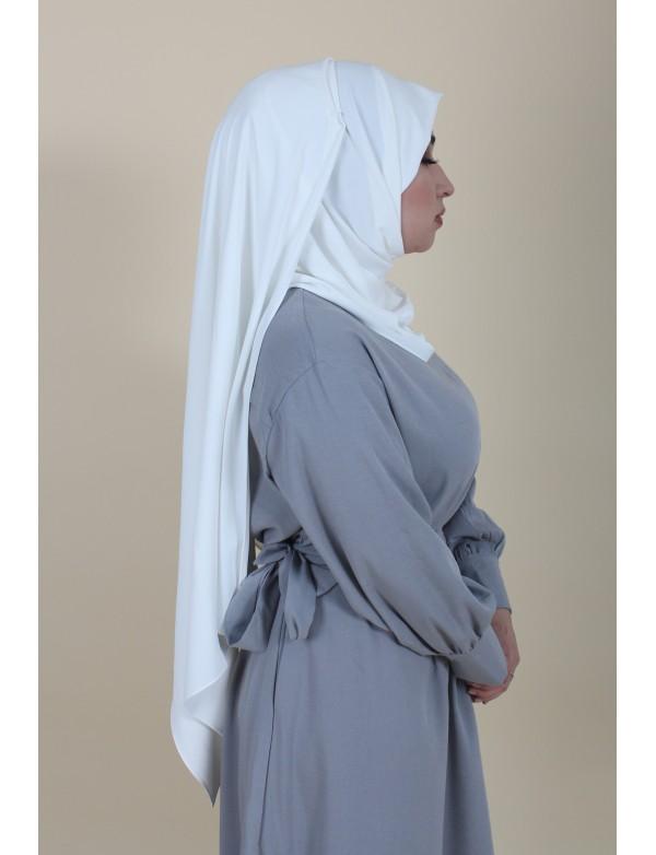 Maxi white hijab