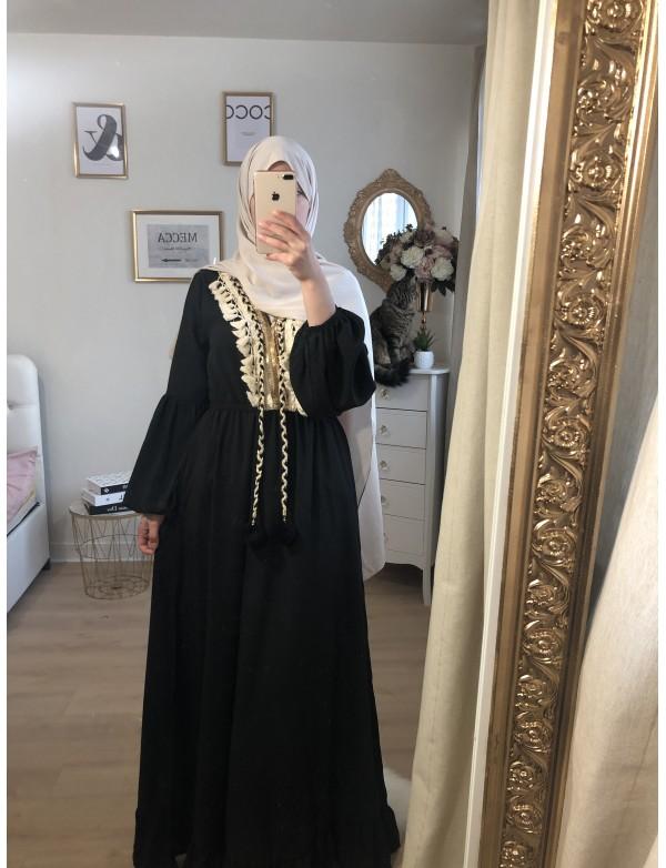 Robe etnik noir